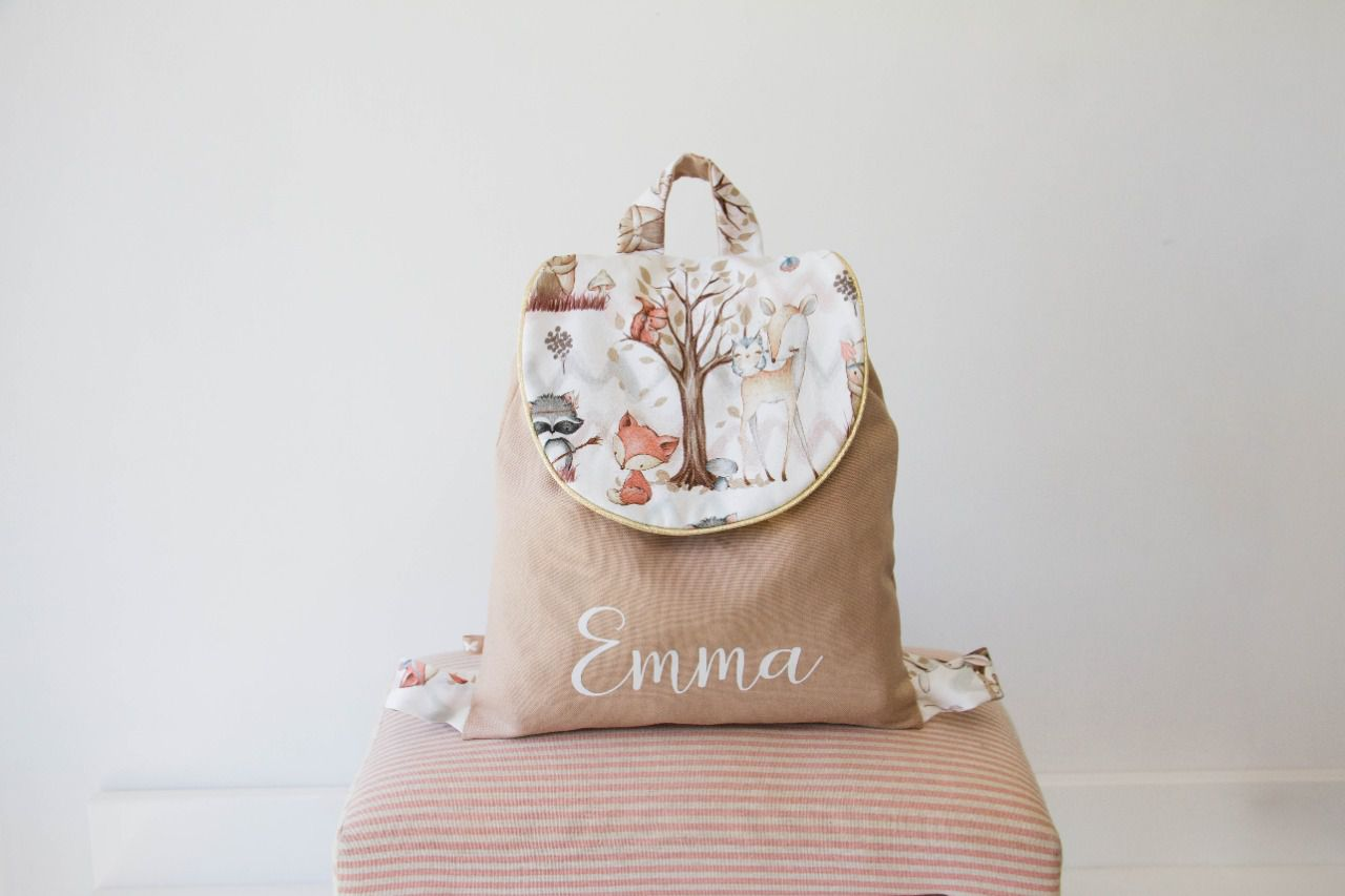 Cartable biche enchantée beige