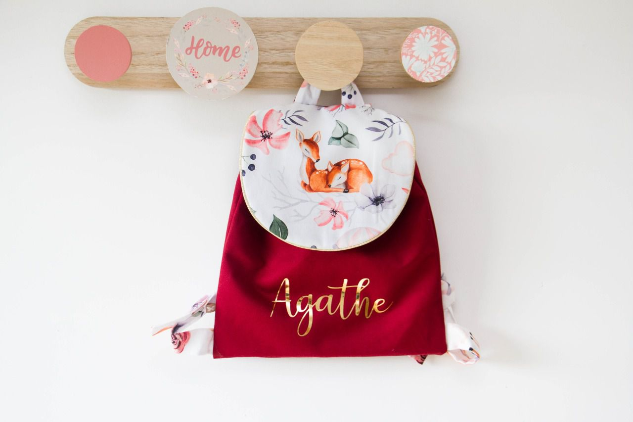 Cartable  biche bordeau